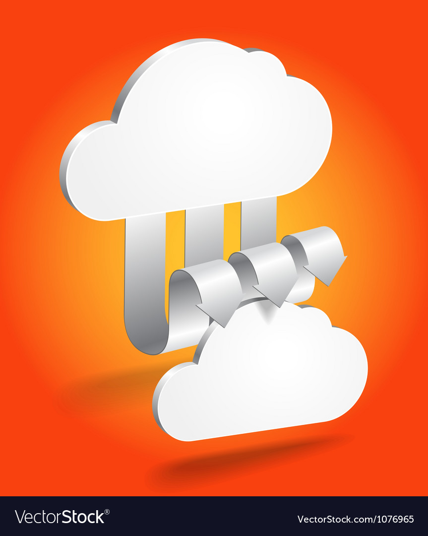 Abstract cloud scheme in perspective vector | Price: 1 Credit (USD $1)