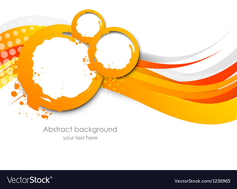 Abstract wavy orange background vector | Price: 1 Credit (USD $1)
