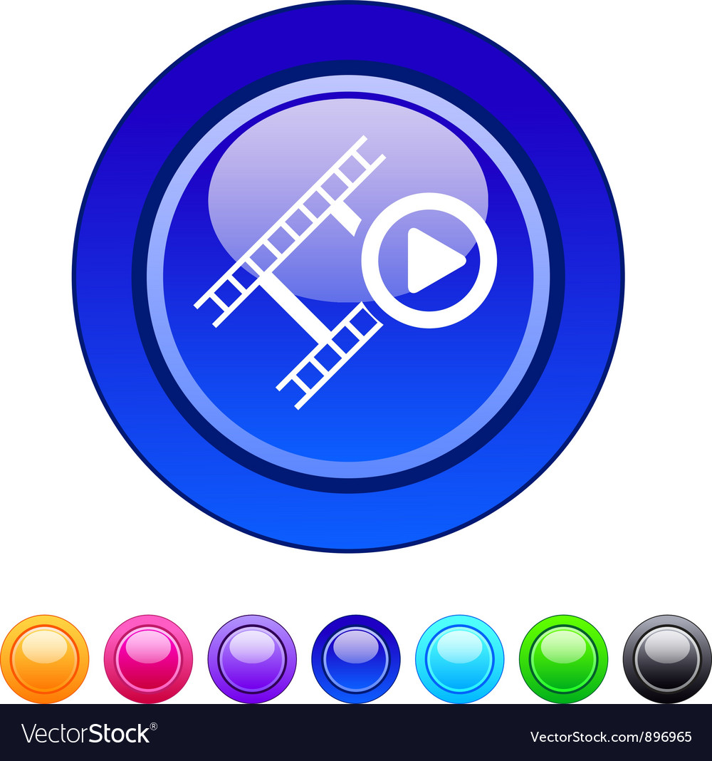 Film circle button vector   Price: 1 Credit (USD $1)