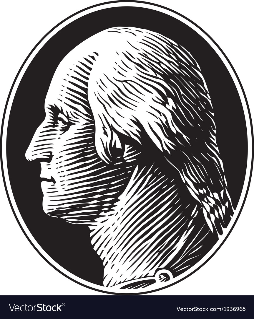 George washington portrait vintage style vector | Price: 1 Credit (USD $1)