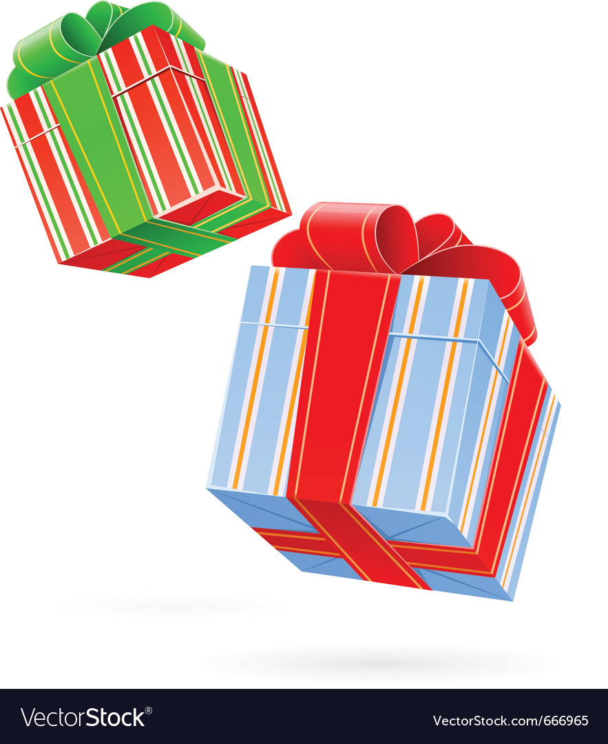 Gift box with bow vector | Price: 3 Credit (USD $3)