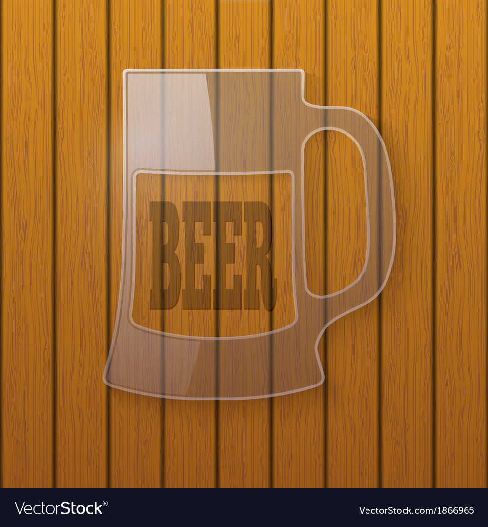 Glass plate in the form of a beer mug vector | Price: 1 Credit (USD $1)