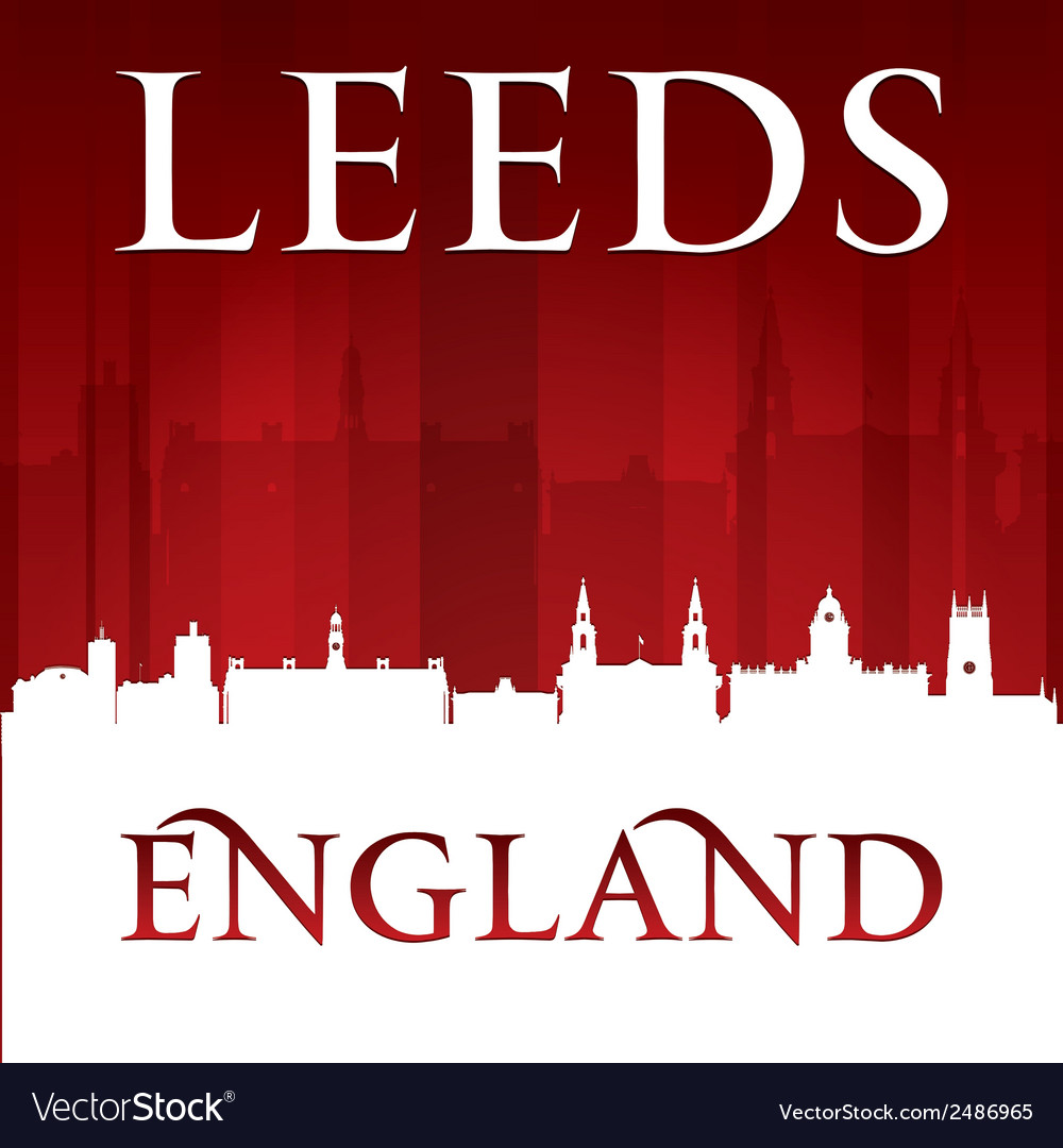 Leeds england city skyline silhouette vector | Price: 1 Credit (USD $1)