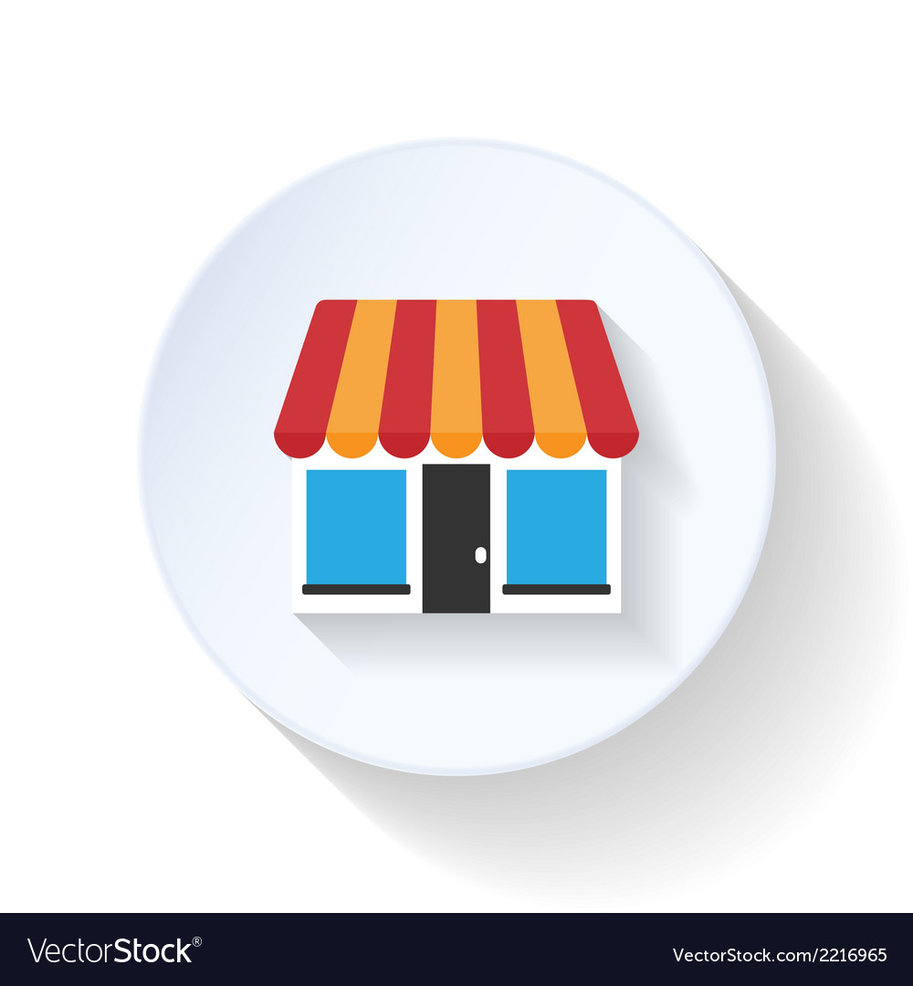 Market flat icon vector | Price: 1 Credit (USD $1)