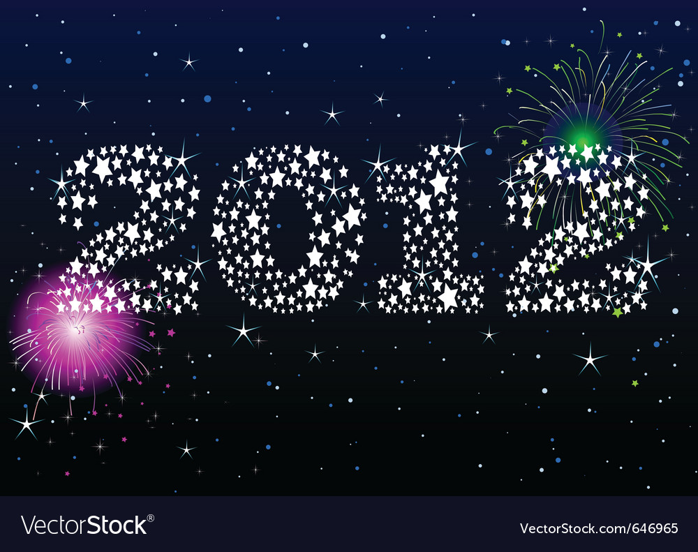 New year celebration vector | Price: 1 Credit (USD $1)