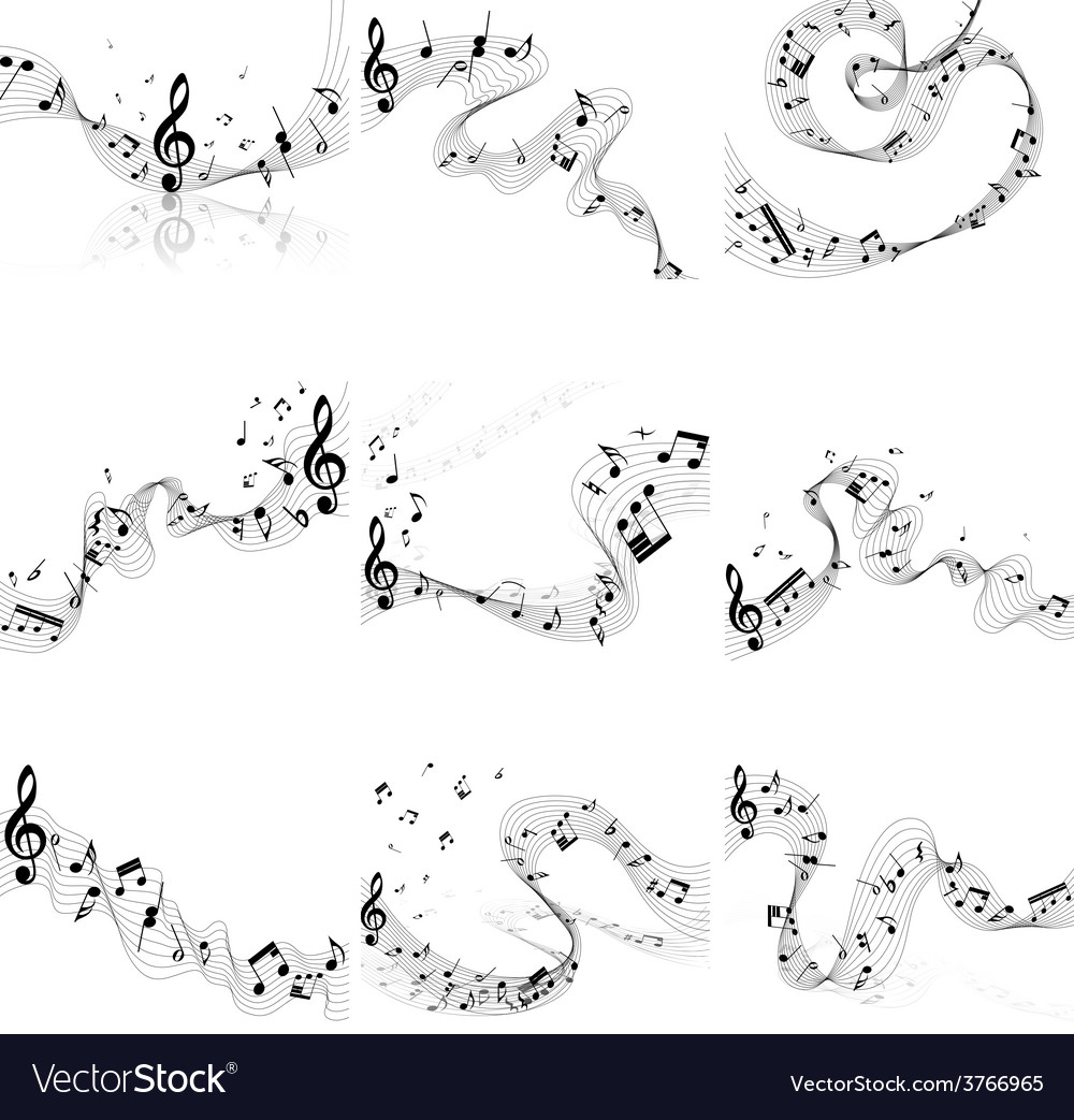 Notes set vector | Price: 1 Credit (USD $1)