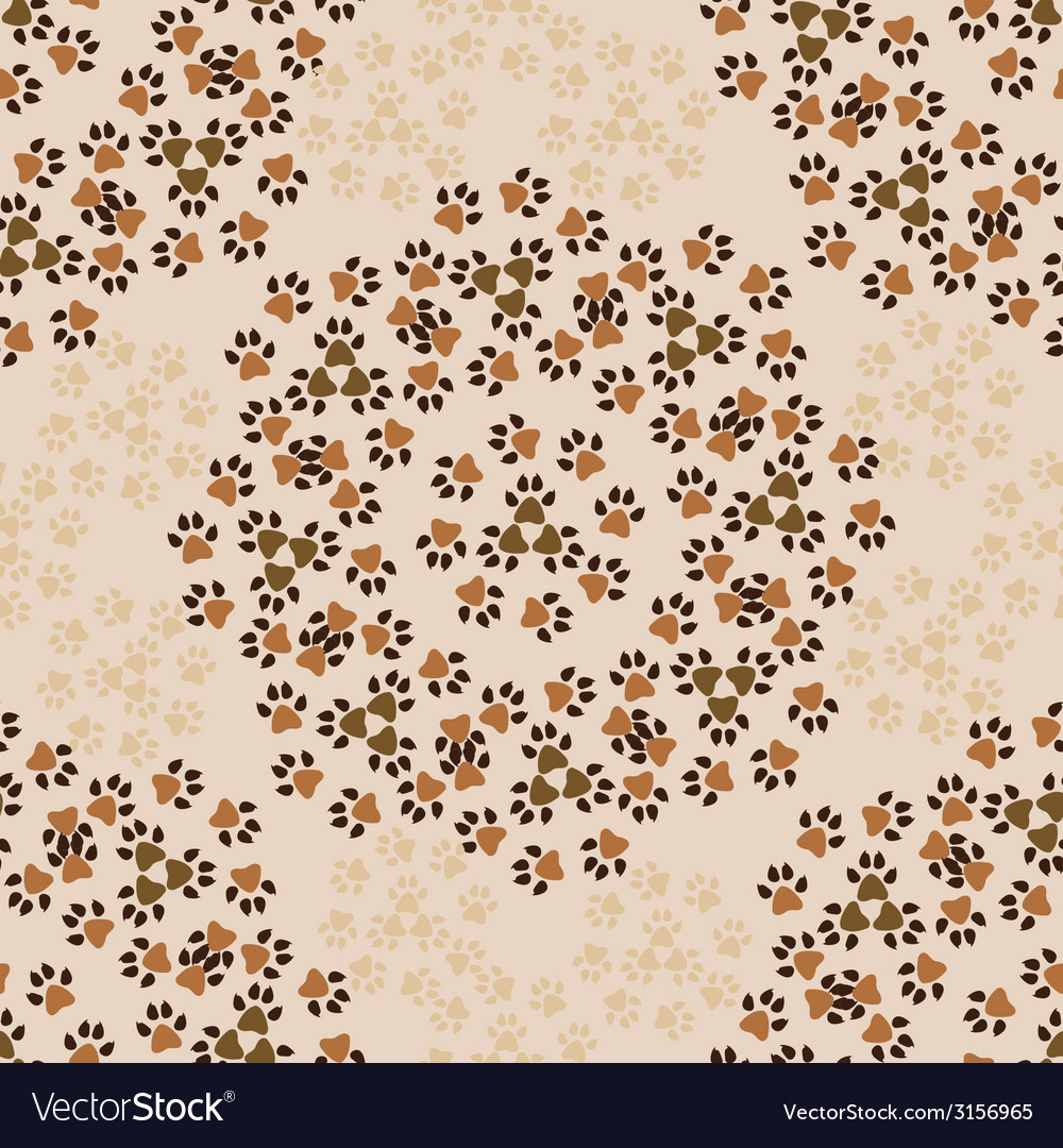 Pattern-with-animal-paws-1 vector | Price: 1 Credit (USD $1)