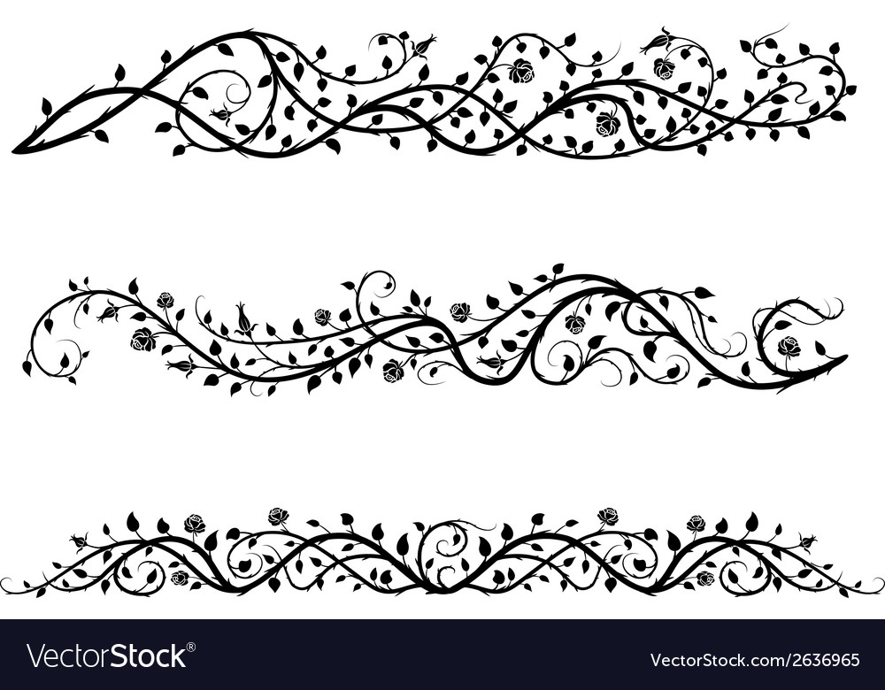 Roses borders vector | Price: 1 Credit (USD $1)