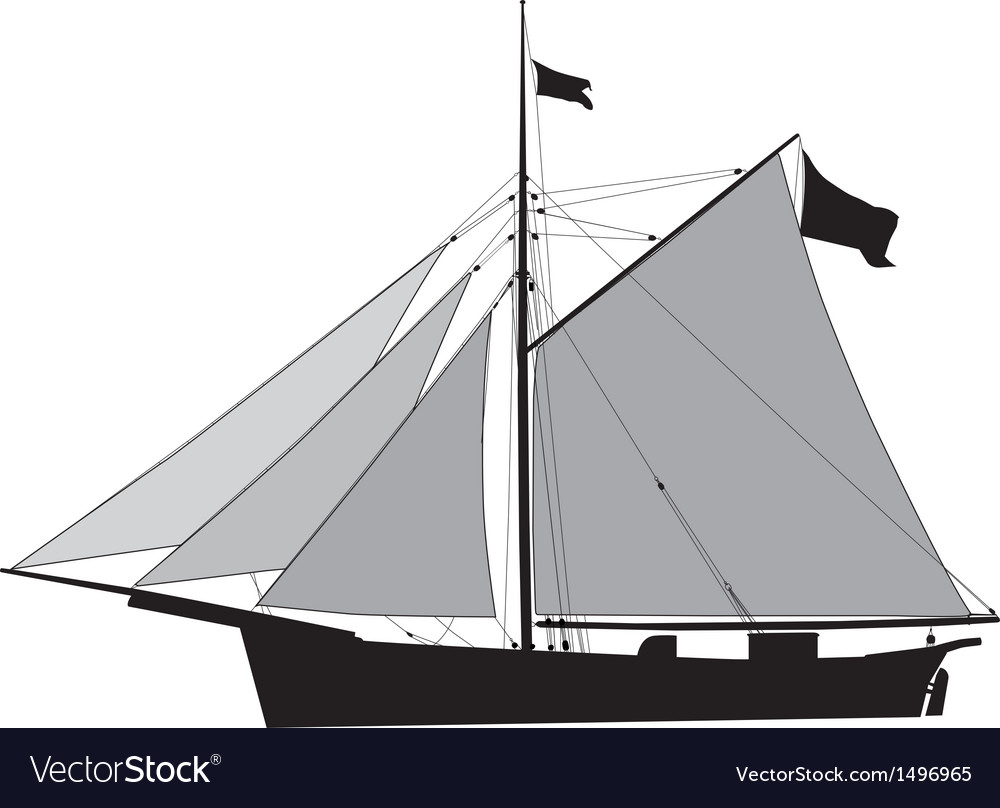 Sailship cutter vector | Price: 1 Credit (USD $1)