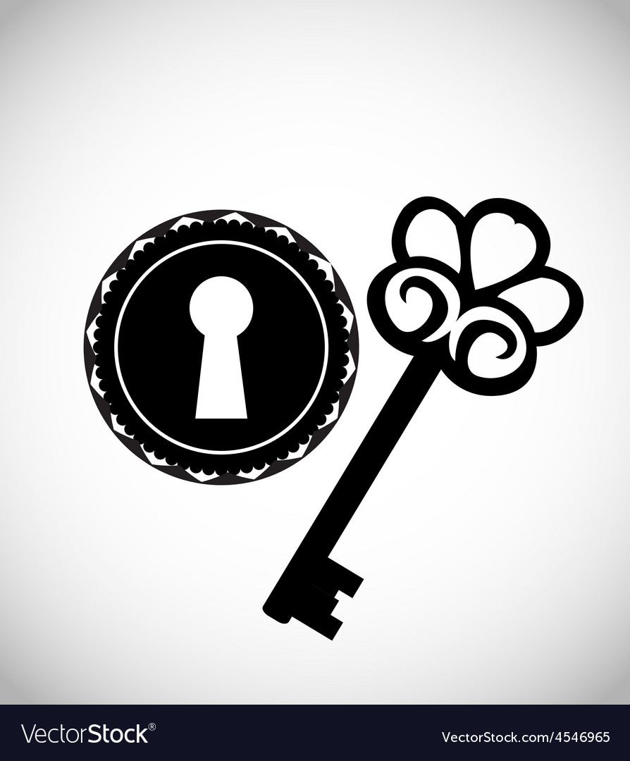 Vintage keys and keyhole vector | Price: 1 Credit (USD $1)