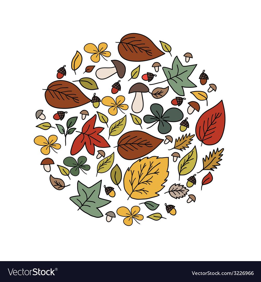 Autumn beauty card vector | Price: 1 Credit (USD $1)