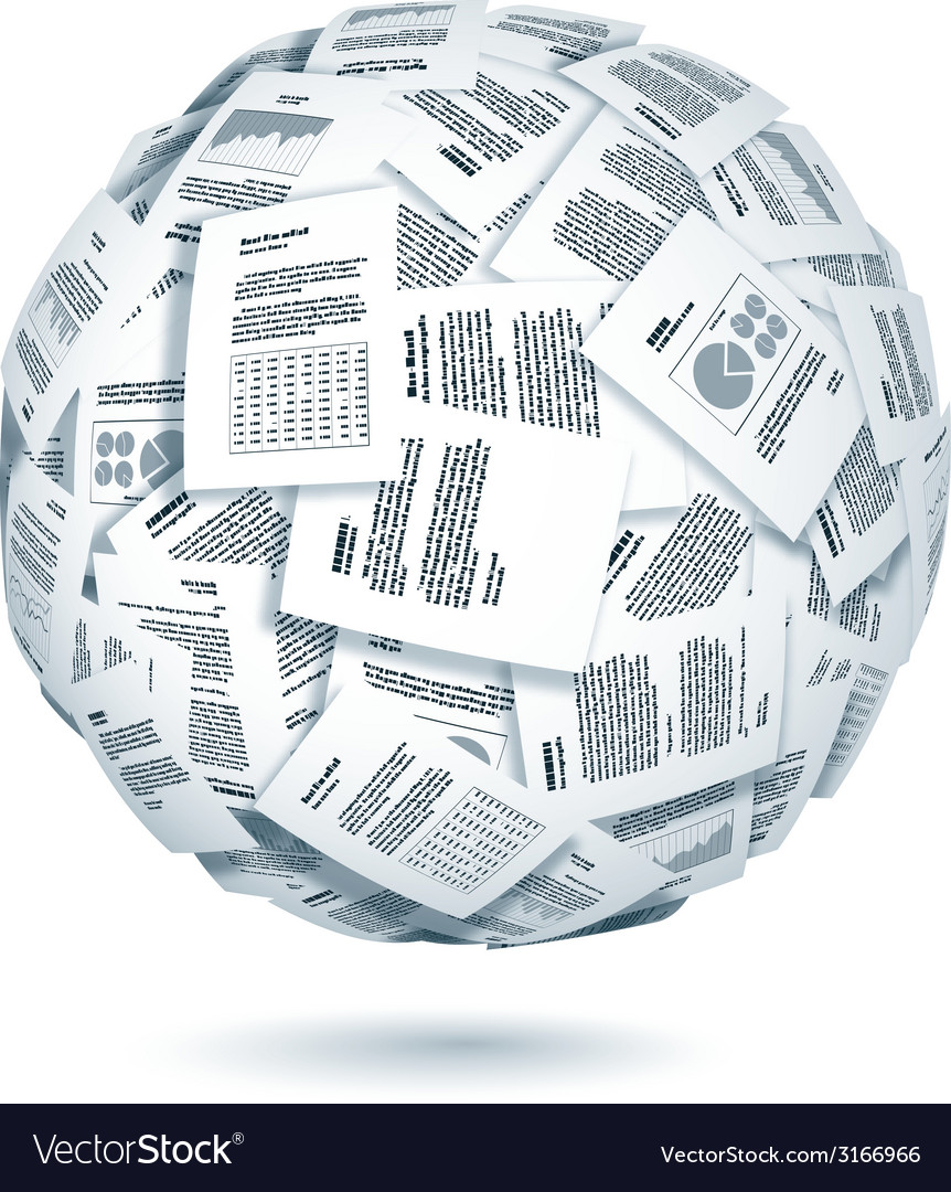 Ball of documents vector | Price: 1 Credit (USD $1)