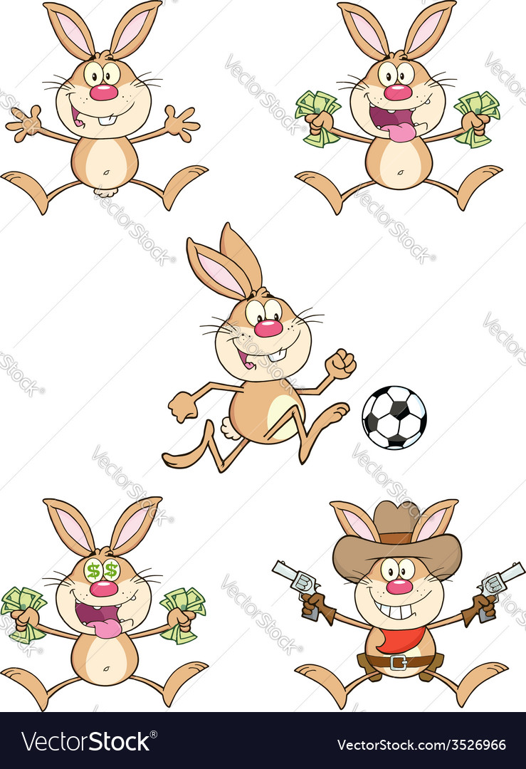 Cartoon rabbit design vector | Price: 1 Credit (USD $1)