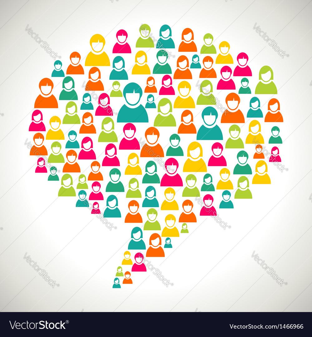 Diversity people speech bubble vector   Price: 1 Credit (USD $1)