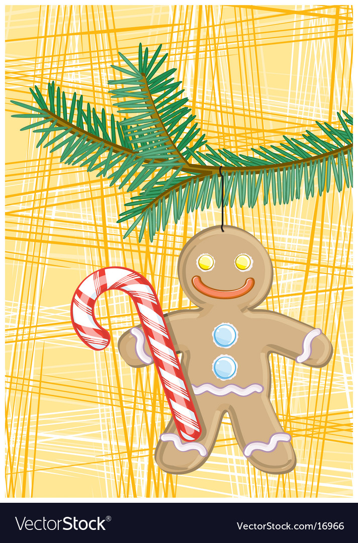 Gingerbread man vector | Price: 3 Credit (USD $3)