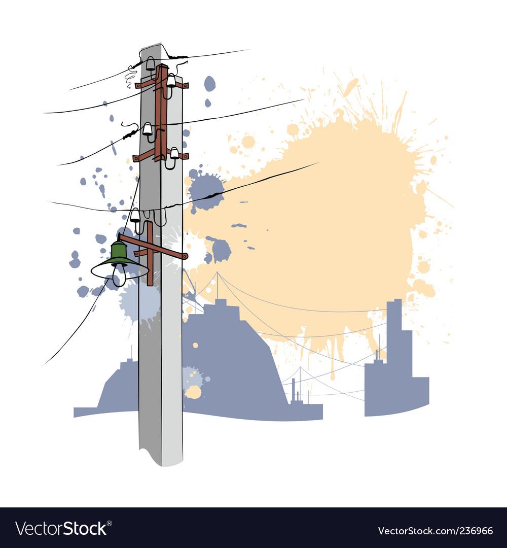 Grunge urban pillar vector | Price: 1 Credit (USD $1)