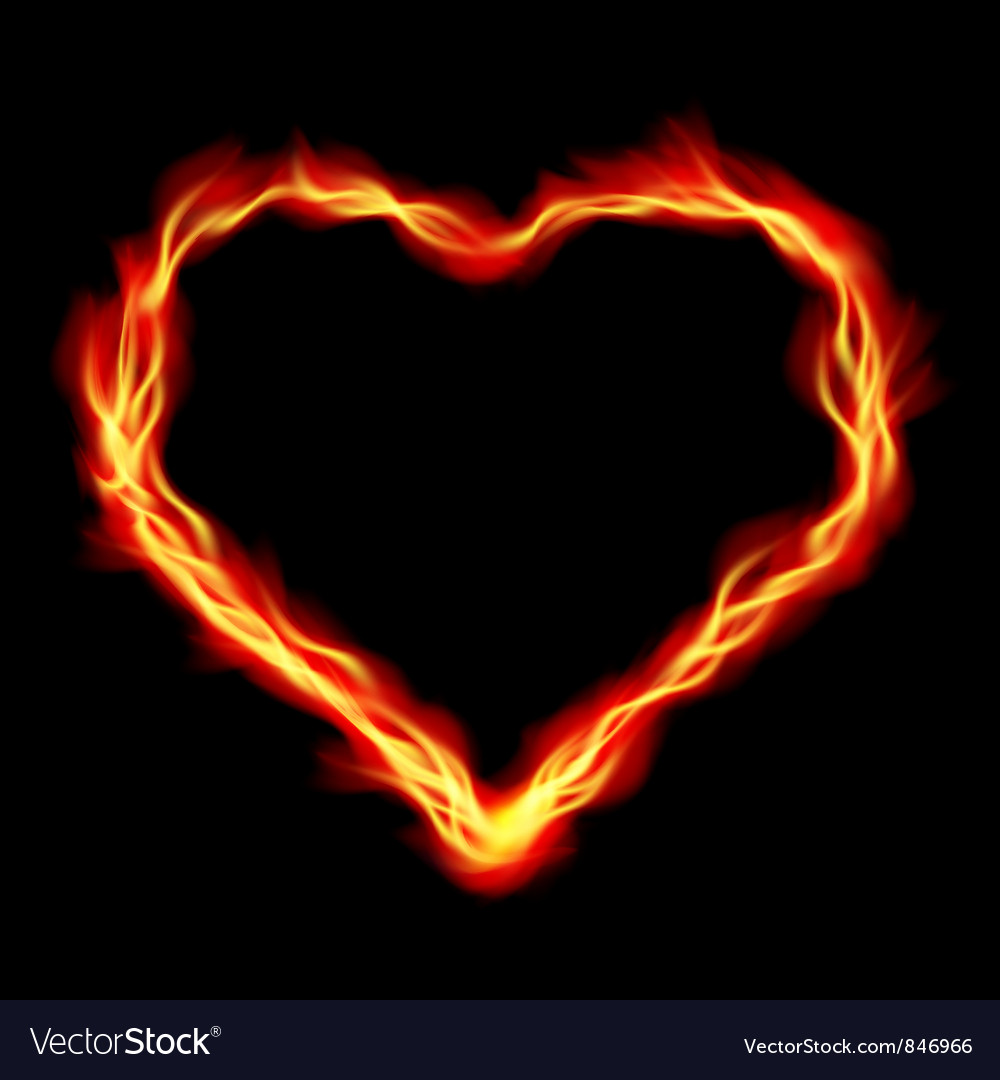 Heart in fire vector | Price: 1 Credit (USD $1)