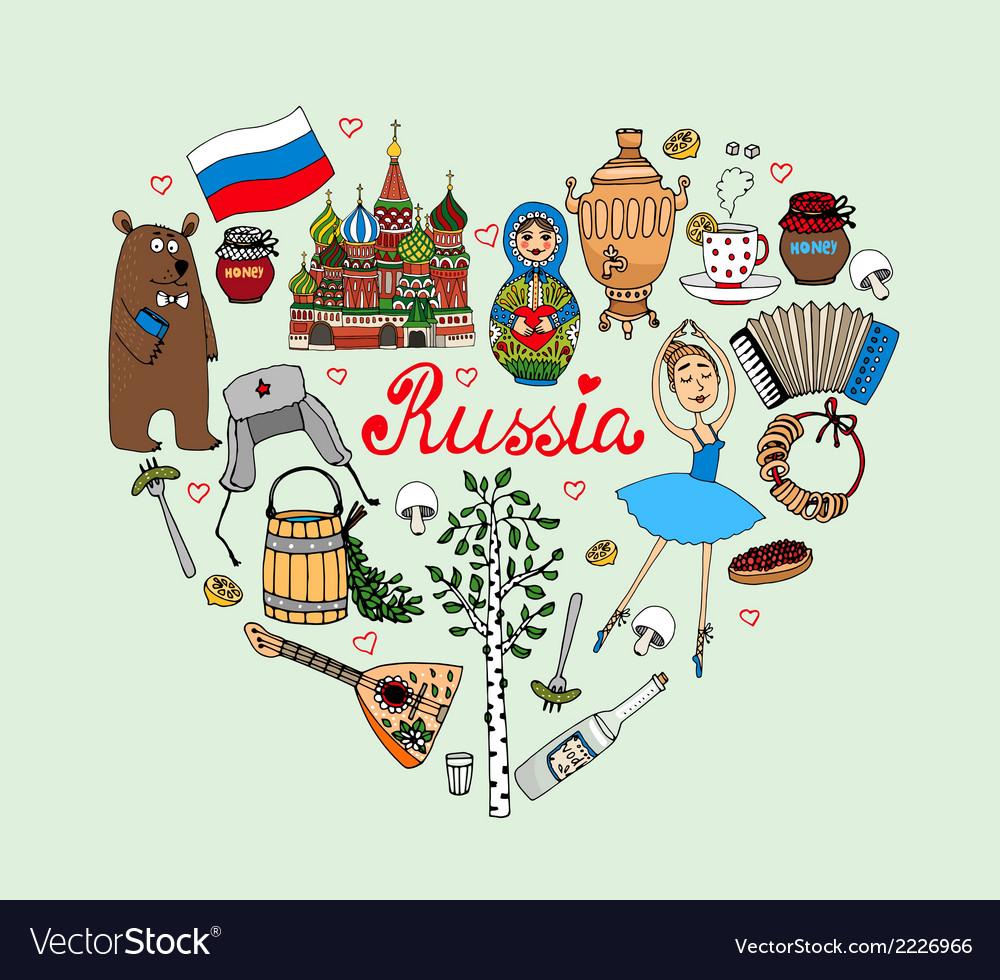 I love russia heart vector | Price: 1 Credit (USD $1)