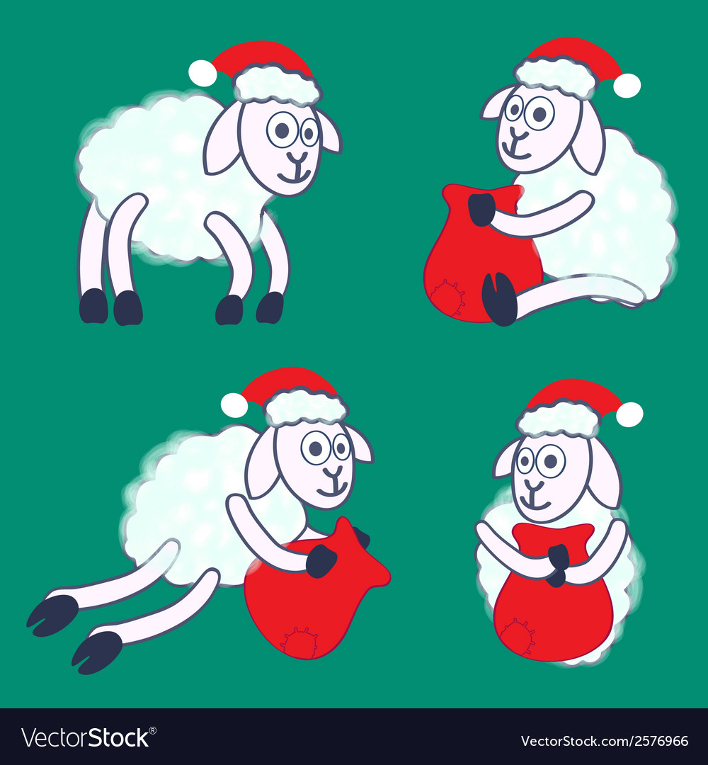 New years sheeps vector | Price: 1 Credit (USD $1)