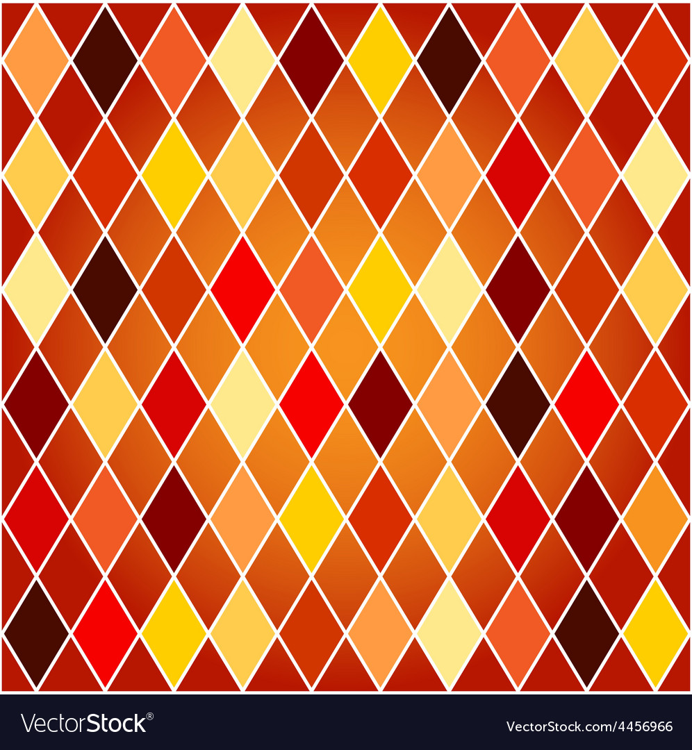 Seamless harlequin pattern-orange and red tones vector | Price: 1 Credit (USD $1)