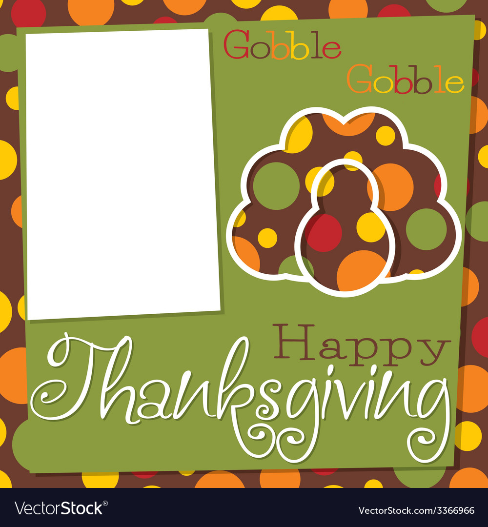 Thanksgiving cut out card in format vector | Price: 1 Credit (USD $1)