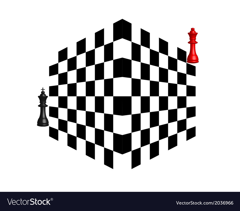 Two chess pieces vector | Price: 1 Credit (USD $1)