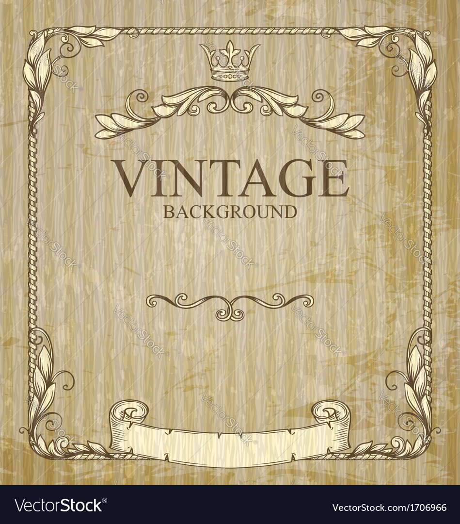 Vintage frame with branches vector | Price: 1 Credit (USD $1)