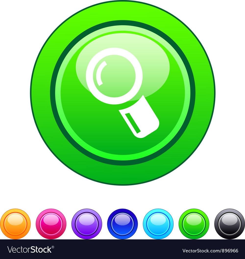 Zoom circle button vector | Price: 1 Credit (USD $1)