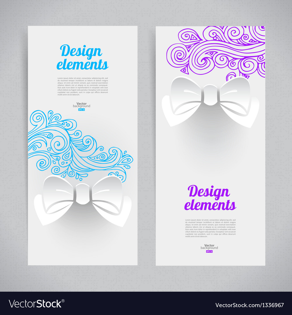 Abstract elegant design with paper bow vector | Price: 1 Credit (USD $1)