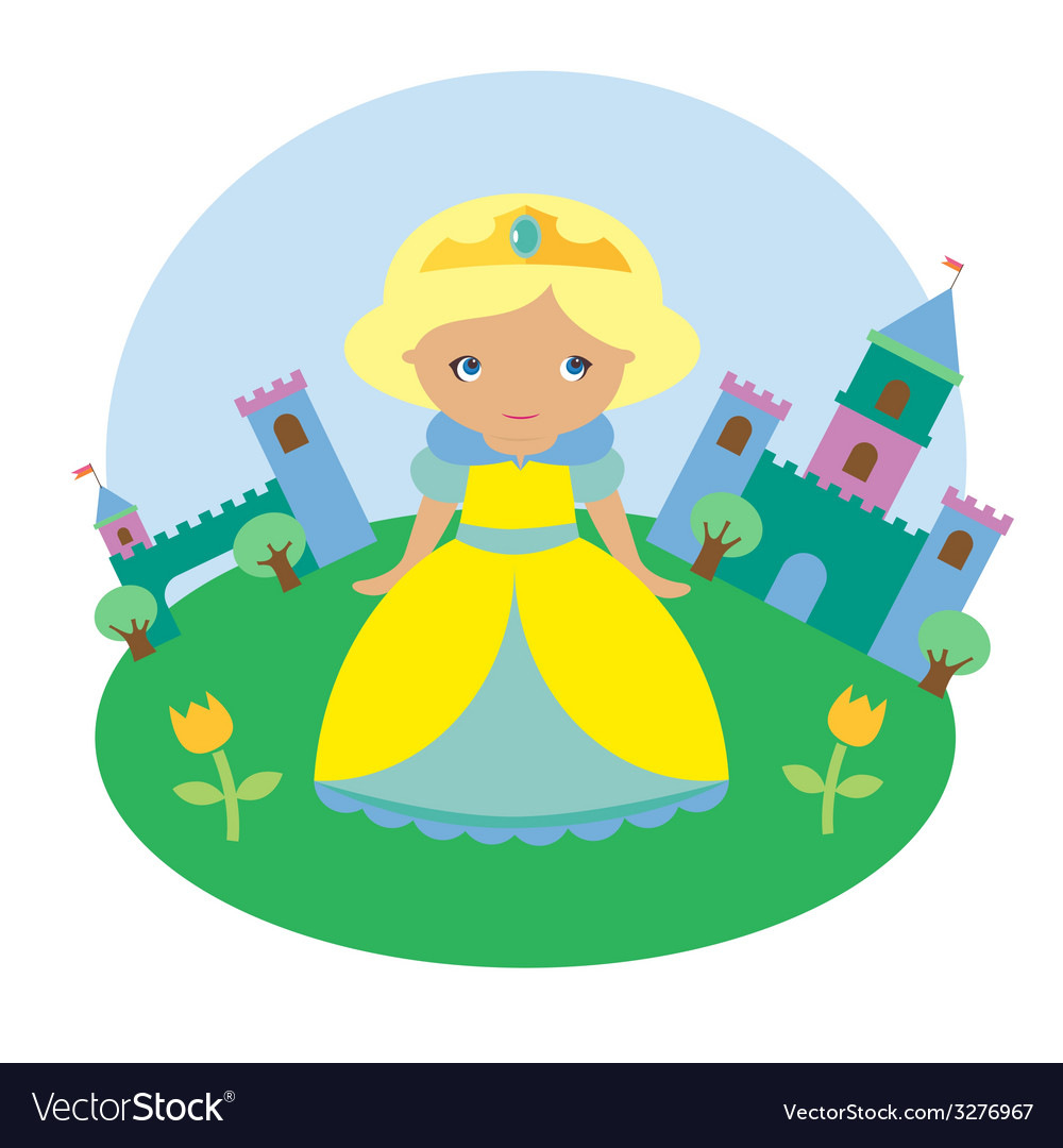 Blonde princess character vector | Price: 1 Credit (USD $1)