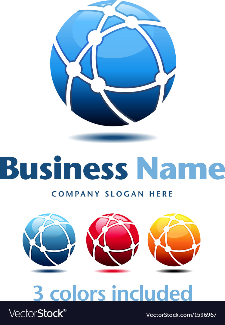 Business technology logo 3 colors vector | Price: 1 Credit (USD $1)