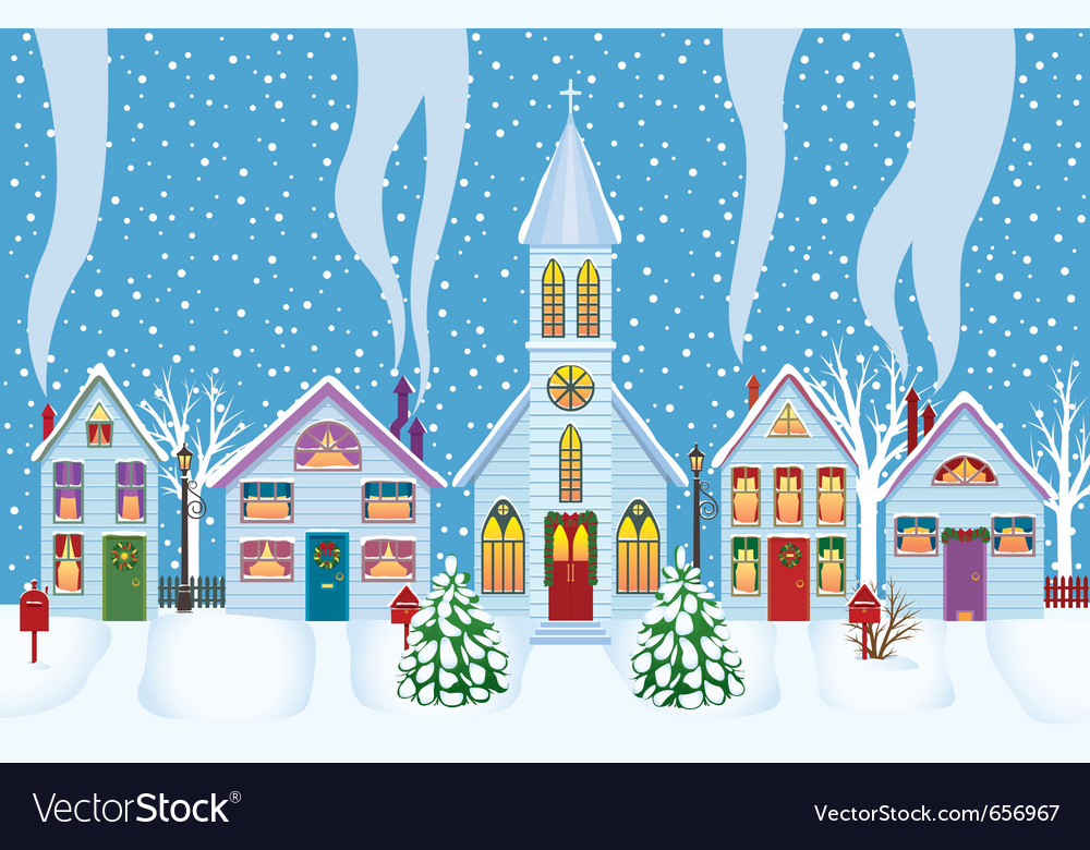 Christmas morning vector | Price: 1 Credit (USD $1)