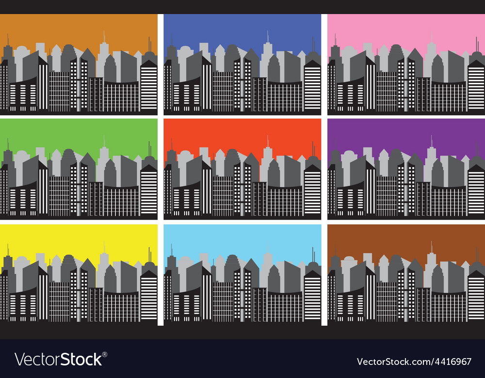City panoramas vector | Price: 1 Credit (USD $1)