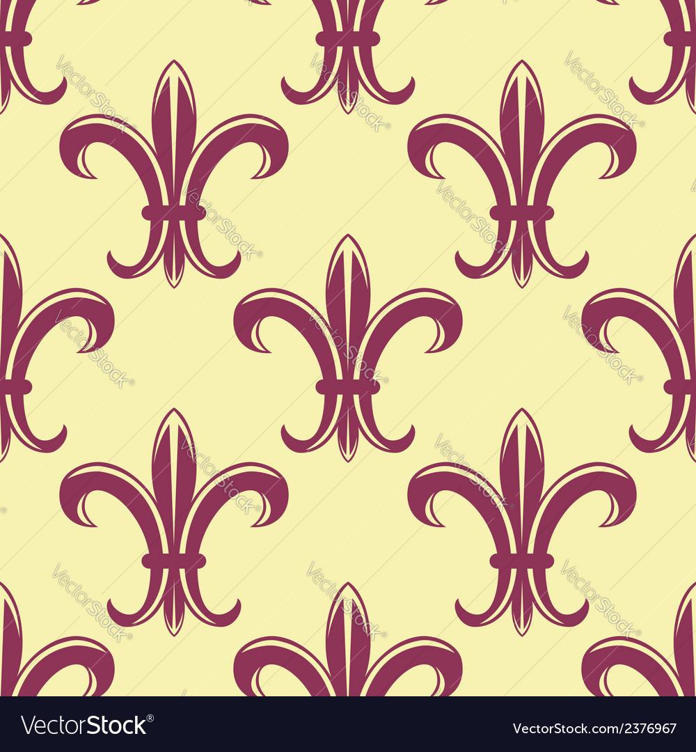 Fleur de lys seamless pattern vector | Price: 1 Credit (USD $1)