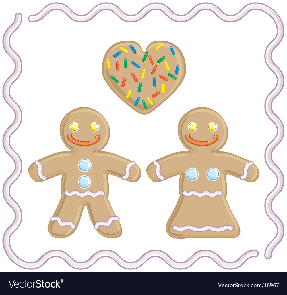 Gingerbread man and gingerbread girl vector | Price: 1 Credit (USD $1)
