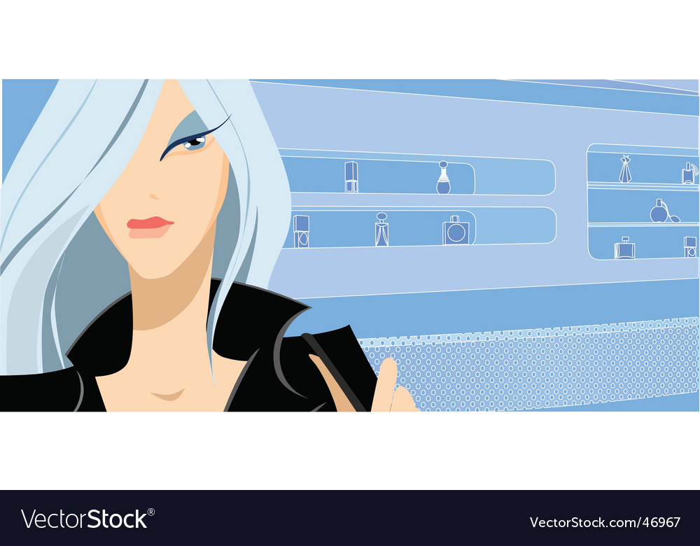 Girl in shop vector | Price: 3 Credit (USD $3)