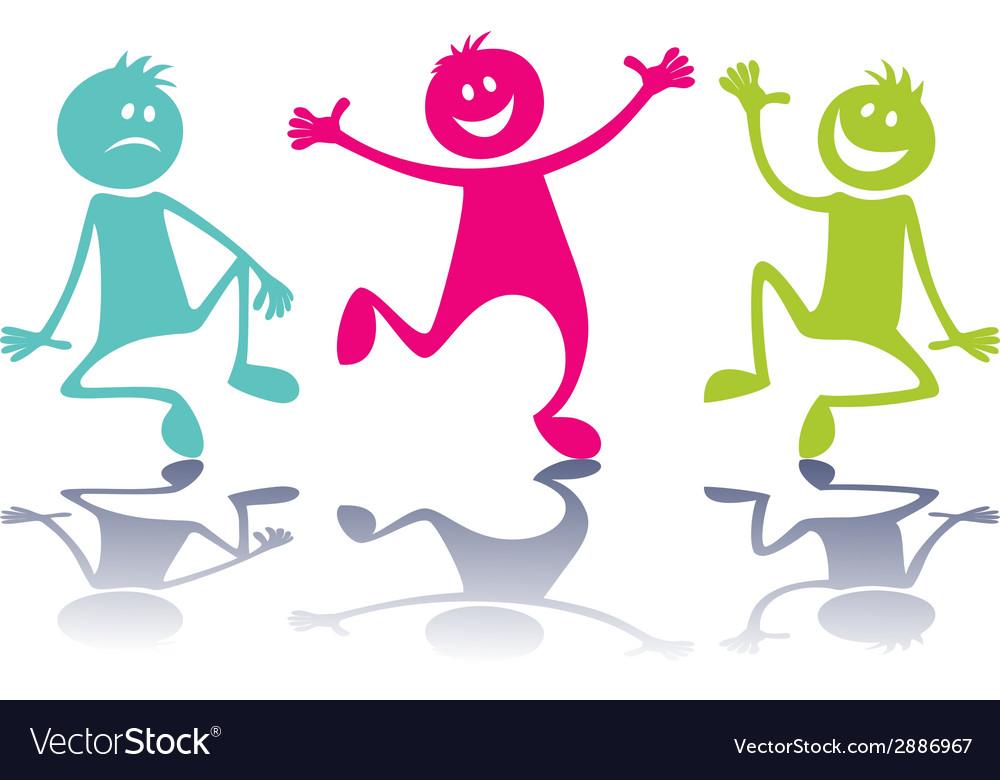 Happy peoplechildren vector | Price: 1 Credit (USD $1)
