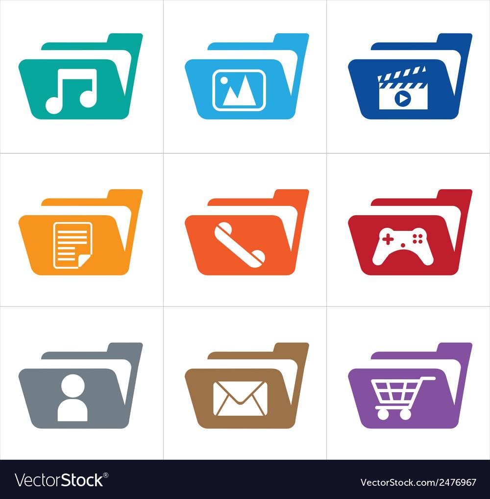 Icon folder vector | Price: 1 Credit (USD $1)