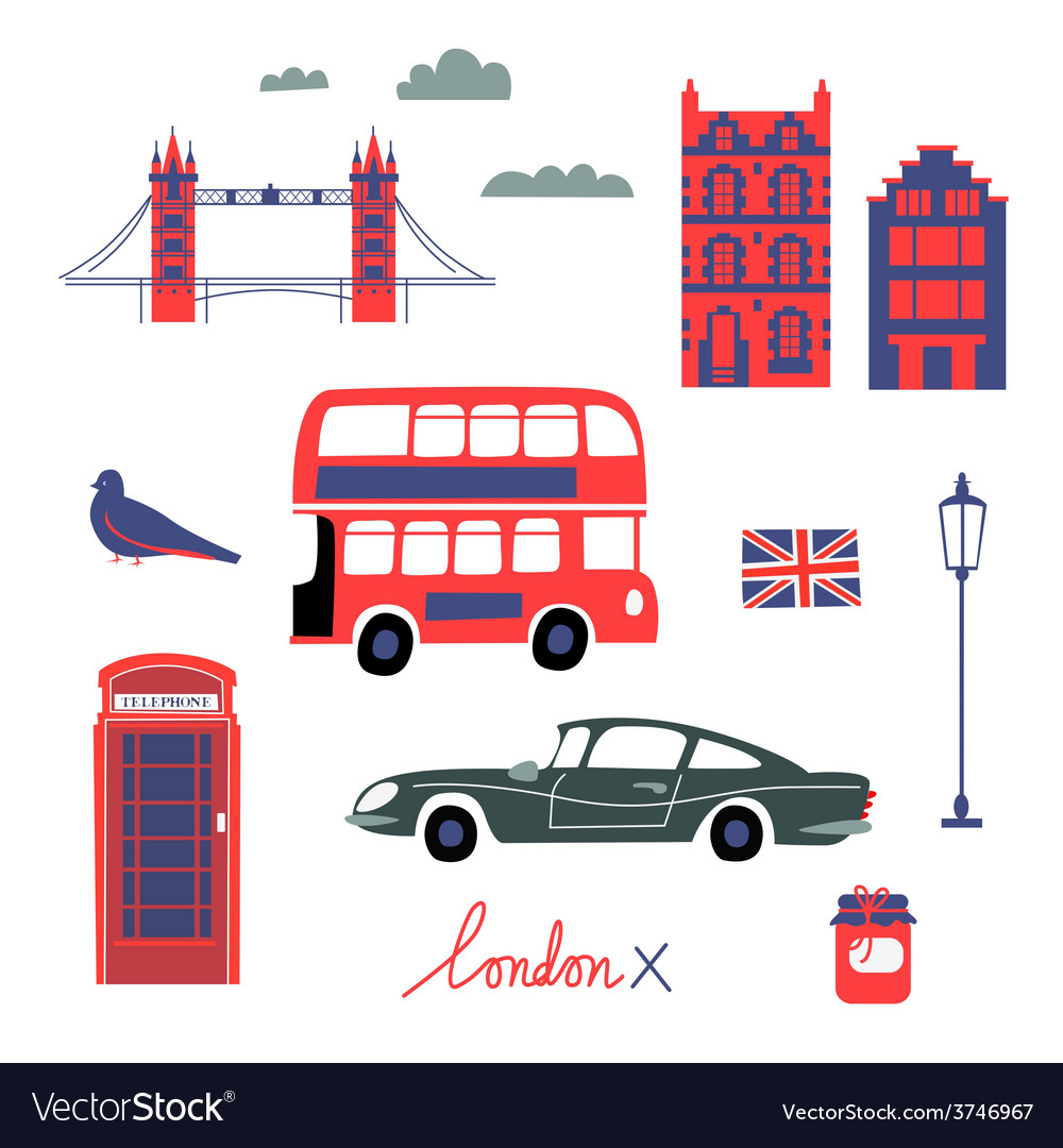 London touristic set vector | Price: 1 Credit (USD $1)