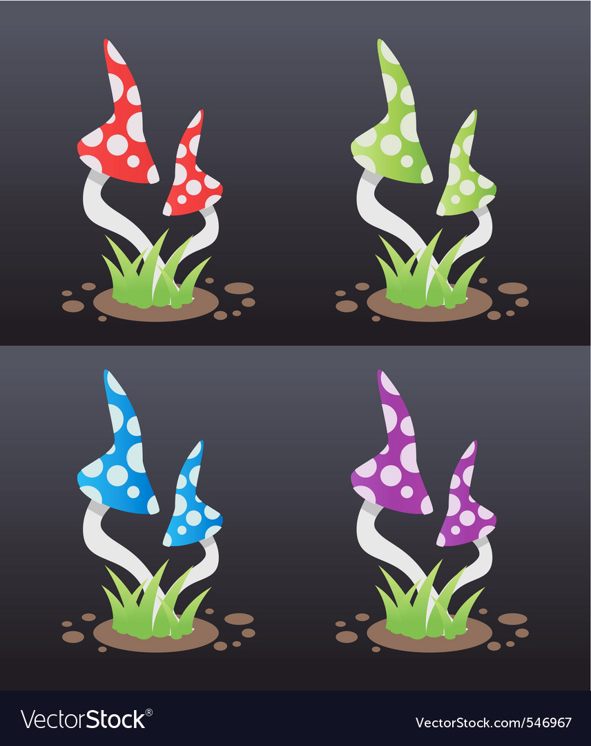 Mushroom poison vector | Price: 1 Credit (USD $1)