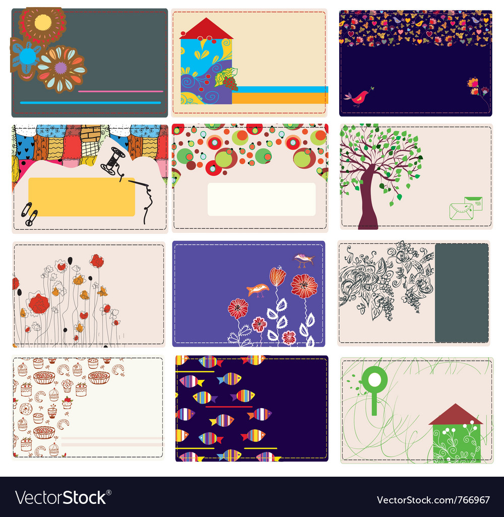 Nature drawing card vector | Price: 1 Credit (USD $1)