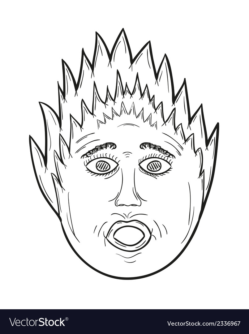 Panic face vector | Price: 1 Credit (USD $1)