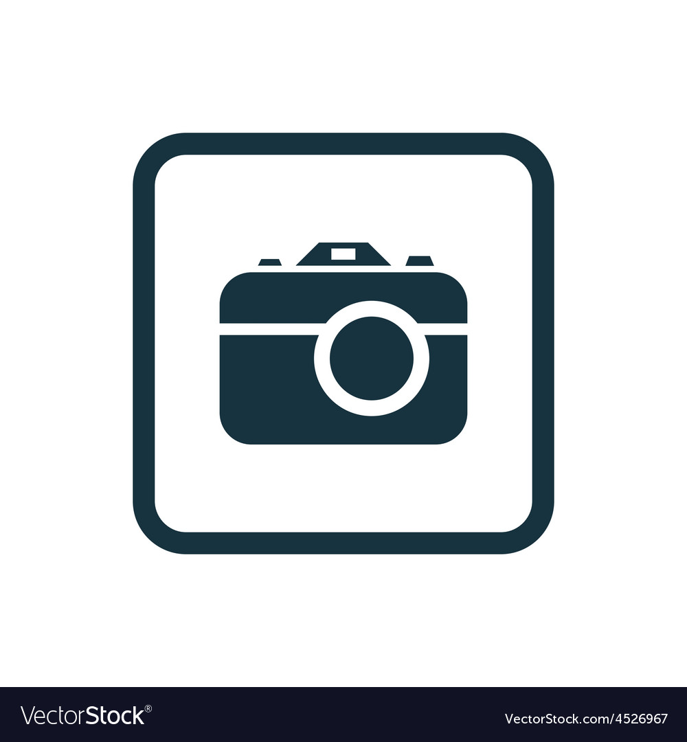 Photo camera icon rounded squares button vector | Price: 1 Credit (USD $1)