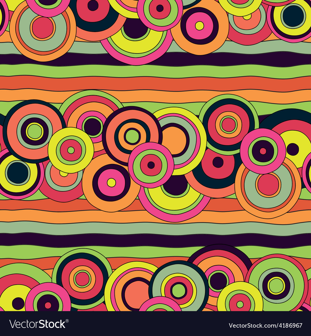 Psychedelic circles pattern vector | Price: 1 Credit (USD $1)