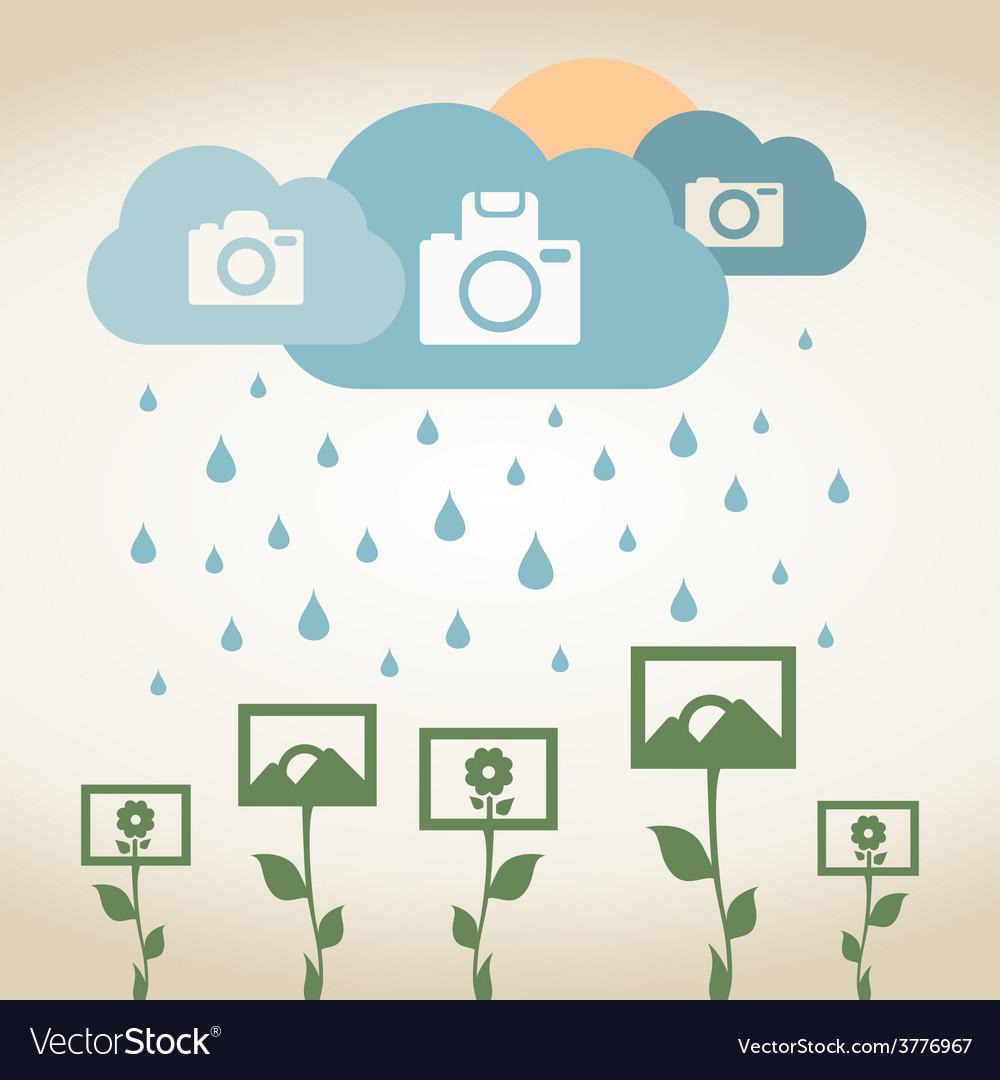 Rain photo vector | Price: 1 Credit (USD $1)