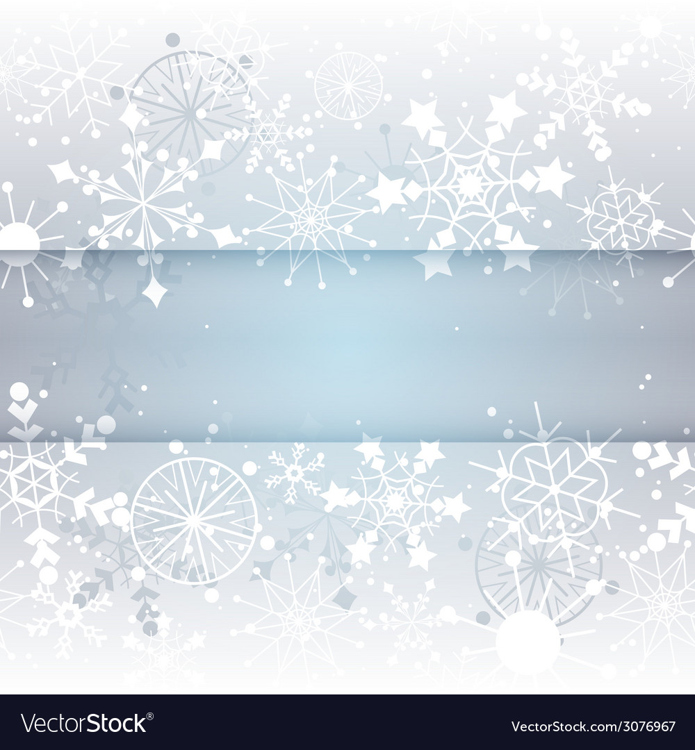 Winter snowflake background with copy space vector | Price: 1 Credit (USD $1)