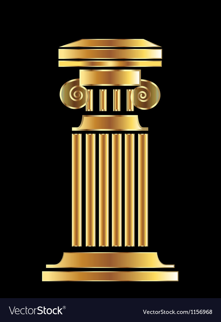Gold column vector | Price: 1 Credit (USD $1)