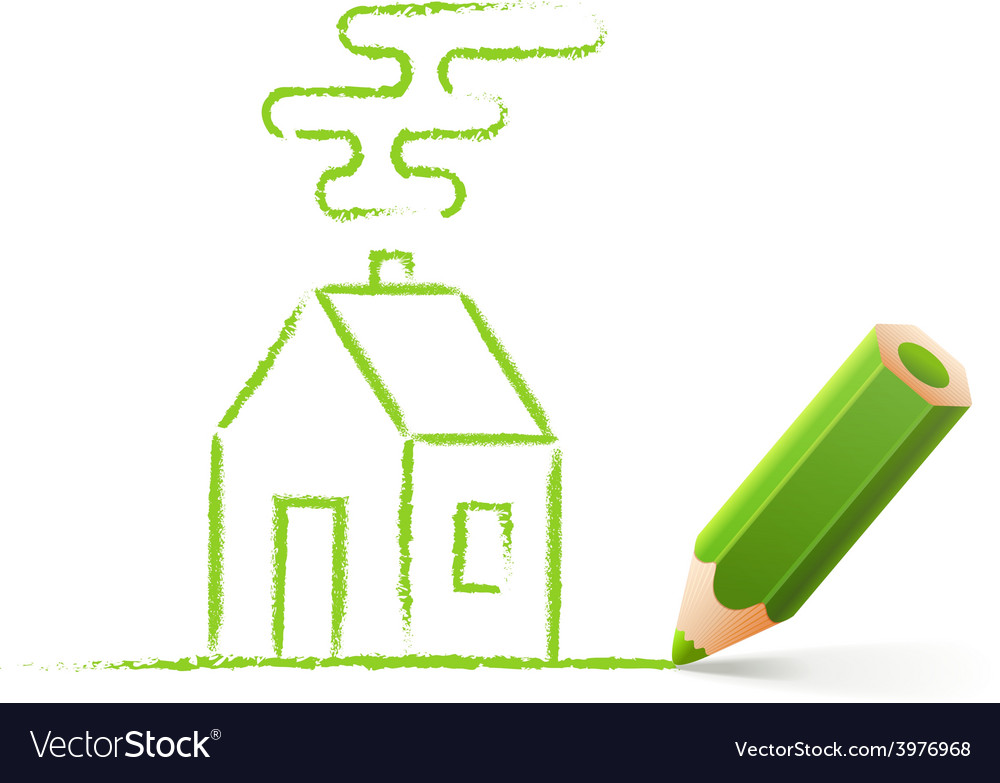 Green house sketch vector | Price: 1 Credit (USD $1)