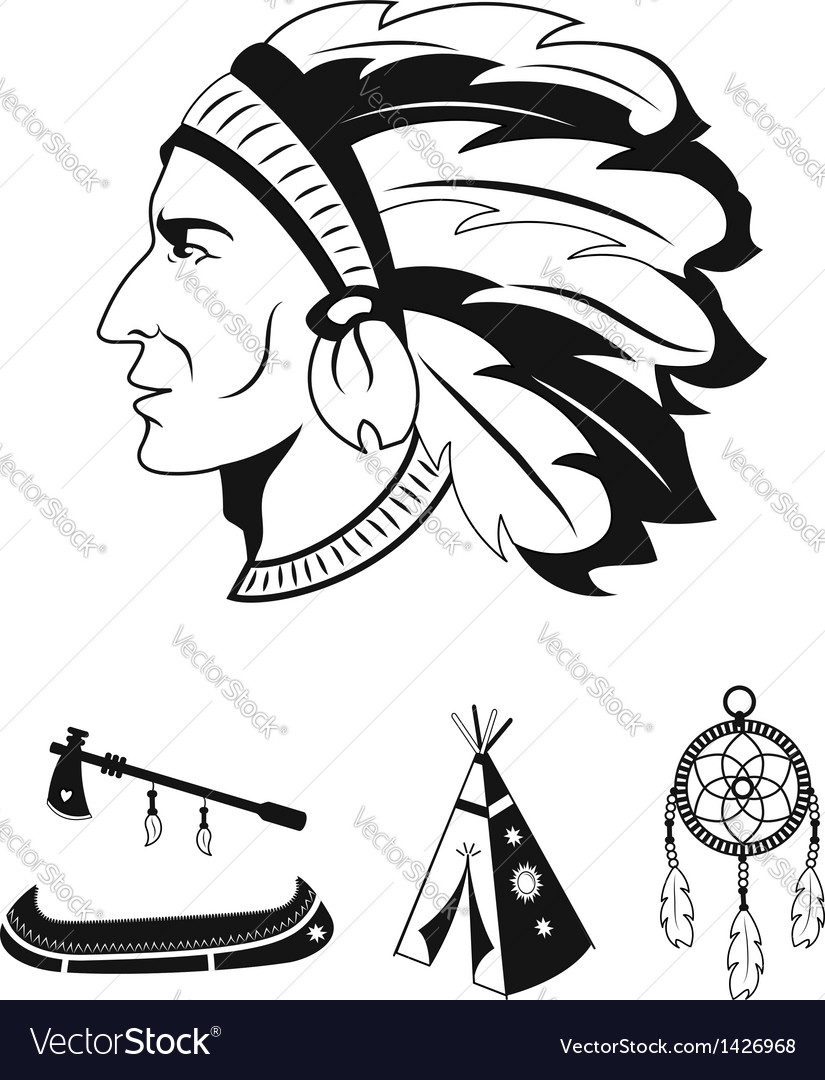 Indian icons set vector | Price:  Credit (USD $)