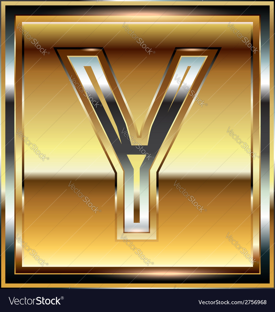 Ingot font letter y vector | Price: 1 Credit (USD $1)